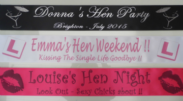 Personalised Hen Party Sashes